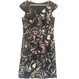 Lovely tribal print dress with cap sleeves! EUC 8